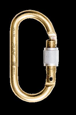 РИНГ Карабин стальной овальный keylock 30 кН - фото 4559