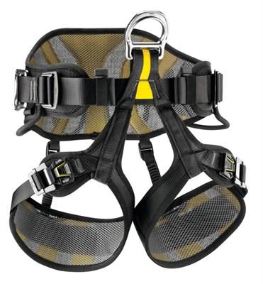 PETZL Привязь страховочная AVAO Sit Fast C079BA02 (Черный/желтый,  Размер: 2) - фото 4923